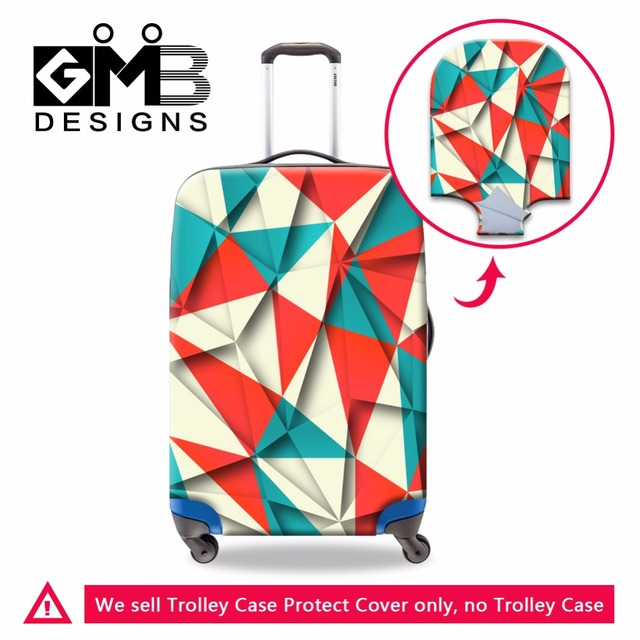 Waterproof Luggage Covers Spandex Cover for suitcase Cool Geometric Luggage Protector Clear Rain Cover Dustproof  for 18-30 inch