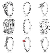 925 Sterling Silver Rings 9 Styles Selection