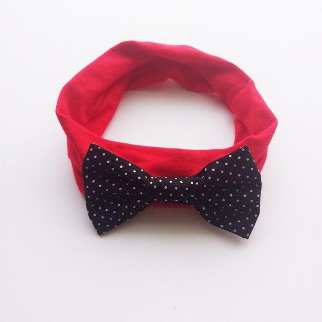 10pcs lot Black Polka Dot Hair Bow Stretch Headband Kid Red Head Wrap Band  Big Bow Girls Soft Hairbands Dot Geometric Head Band 507e2415bd1