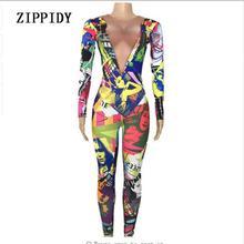 Jumpsuit Pakaian Desain Printed