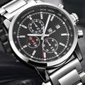 Hombre Reloj BENYAR Nuevo Cronógrafo Reloj de Los Hombres de la Marca de Lujo Famoso Reloj de pulsera Para Hombre de Acero Reloj Masculino de Cuarzo-reloj montre homme