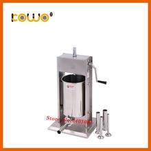 Профессиональная из нержавеющей стали, вертикальная тип 15L емкость руководство мясо Писака Колбаса чайник колбаса машина для продажи
