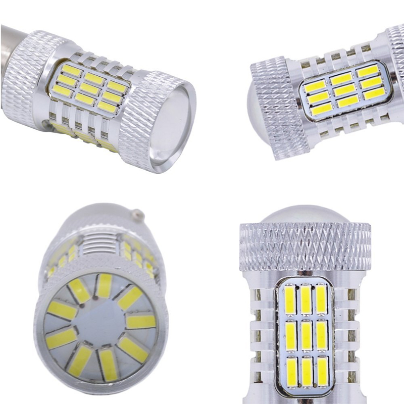 20 штук высокое Яркость 900 люмен 1156 P21W BA15S 1141 1095 7506 Base 4014 45SMD объектив СВЕТОДИОДНЫЙ замена лампочки