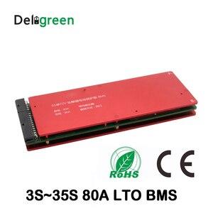 6 6S batería LTO 5S 10 15 20 25 30S 60A bms con función Balance para coche estéreo 18650 titanato de litio de la batería