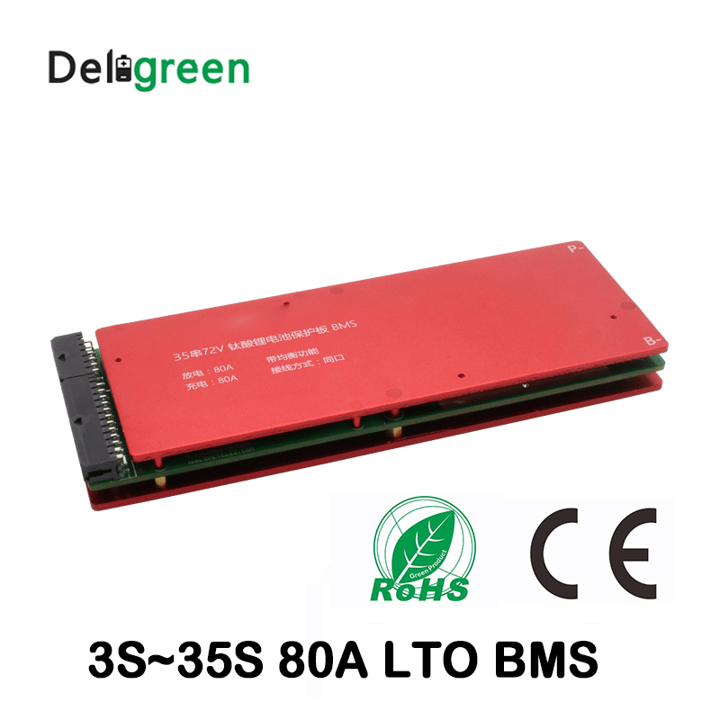 LTO Battery Protection Board 3S 5S 10S 15S 20S 25S 30S 35S 80A bms with Balance function 18650 lithium titanate battery lto battery bms 5s 12v 80a 100a 200a lithium titanate battery circuit protection board bms pcm for lto battery pack same port