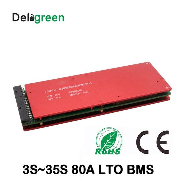 Lto 6S Bms 5S 10S 15S 20S 25S 30S 80A Bms Met Balans functie 2.3V 2.4V Lithium Titanate Batterij Voor Auto Audio Home Motorfiets