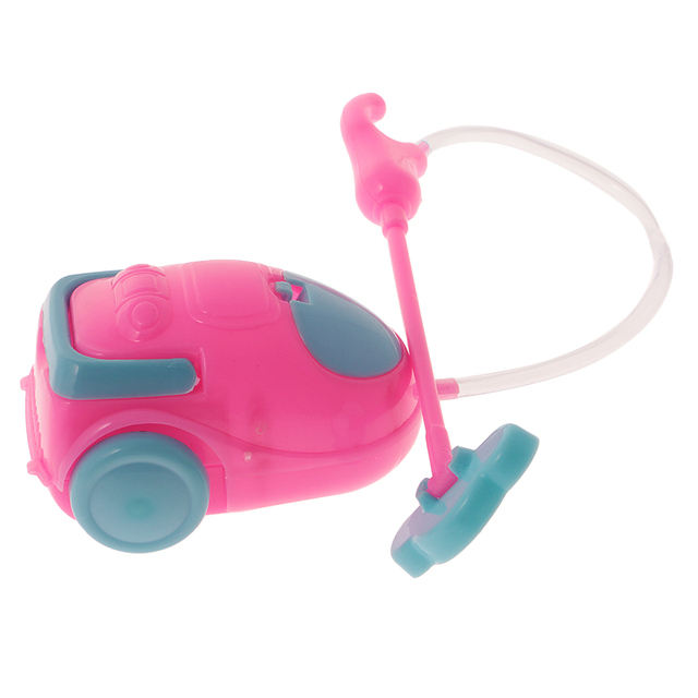 16 Dolls House Miniature Furniture Toys Vacuum Cleaner Cleaning Tool For Barbie Pretend Play