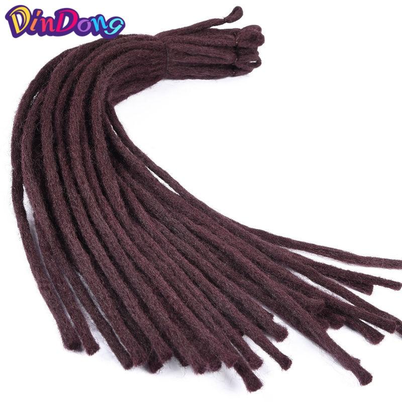 DinDong 22 tum Kanekalon Dreadlocks Men 8 Färger tillgängliga - Syntetiskt hår - Foto 1