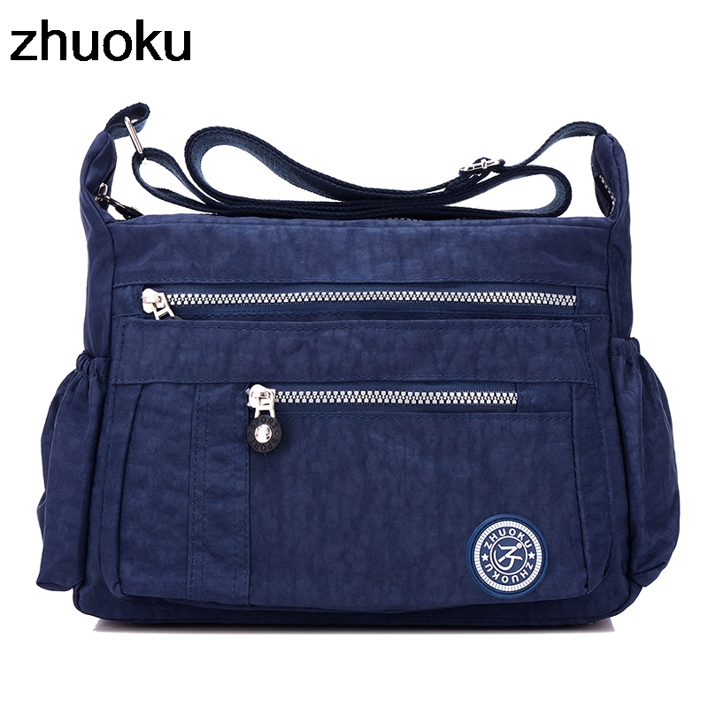 Luxury Women Messenger Bag Waterproof Nylon Shoulder Bags Casual Top-handle Ladies Handbag Travel Tote Women's Crossbody Bag
