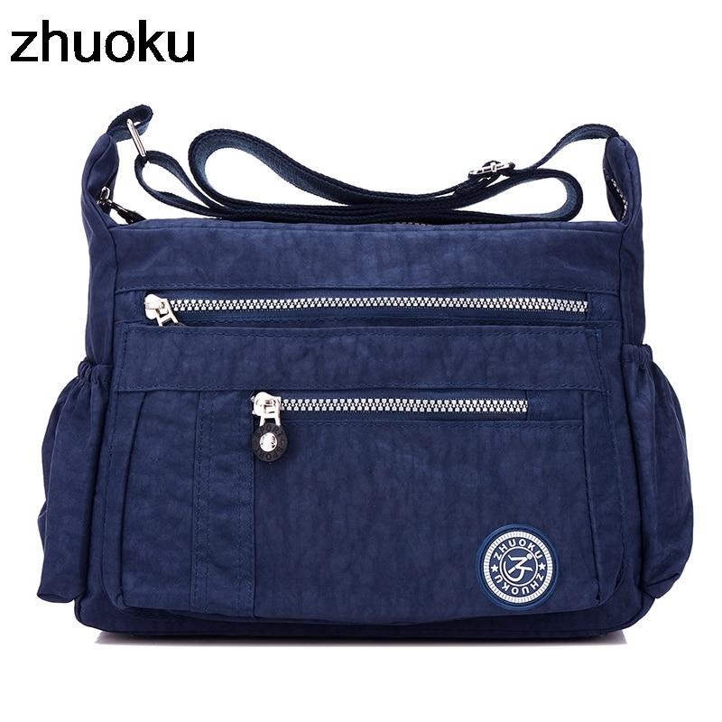 Luxury Women Messenger Bag Waterproof Nylon Shoulder Bags Casual Top-handle Ladies Handbag Travel Tote Women's Crossbody Bag