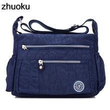 Travel Tote Messenger-Bag Crossbody-Bag Top-Handle Ladies Handbag Nylon Waterproof Women's