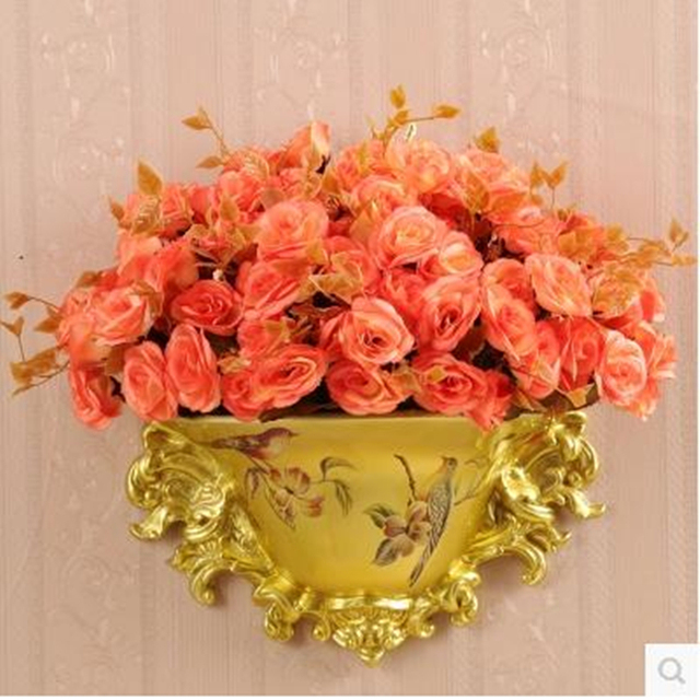 Американский стиль смолы ваза, фарфор висит на стене, свадебные украшения дома поставки