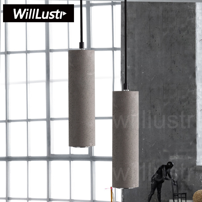 willlustr cement pendant light LED minimalist design lighting hanging lamp dinning room restaurant gray concrete suspension lamp willlustr concrete pendant light cement suspension lamp minimalist design nordic hanging lighting dinning room restaurant hotel