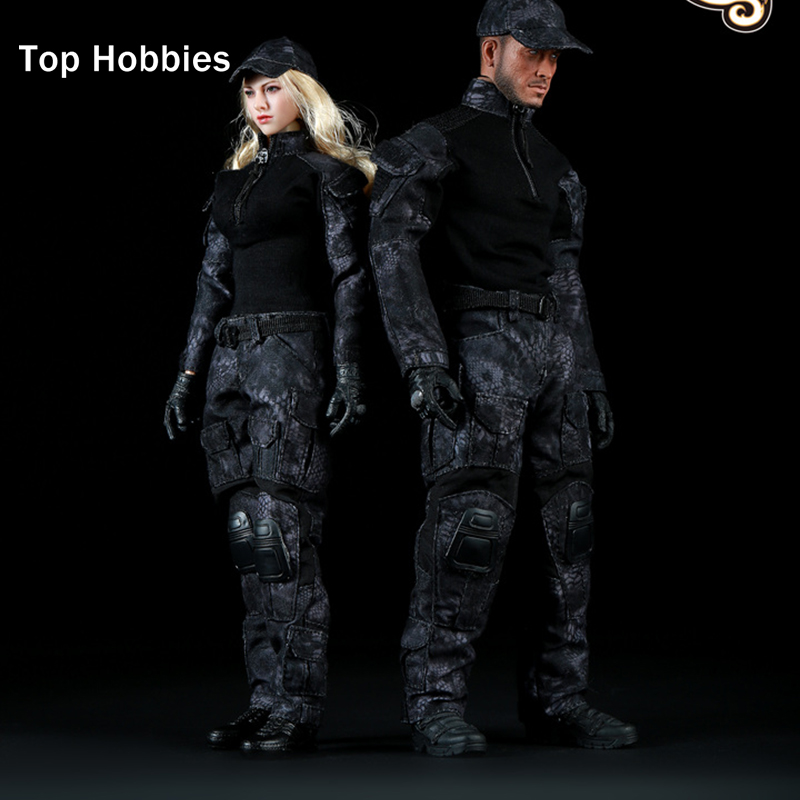 1/6 Scale Fire Girl Toys FG005/FG006 Black Snake Camouflage Uniform Combat Clothing Set Suitable for 12  Action Figure Toy