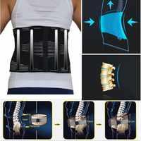 Corset ortopédico lombar unissex cinta de disco herniado fajas ortopedia inferior apoio corset na coluna lombar volta cinto
