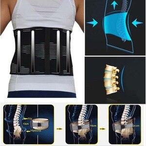 Image 1 - Unisex bel ortopedik korse fıtık disk Brace Fajas düşük arka destek braketi üzerinde lomber omurga geri kemer doğrudan satış