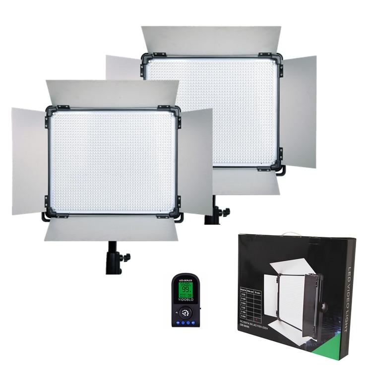DHL 2 pcs Led video light with lcd screen Lamp E 1080II Continue Lighting video light Studio Photography led video Lighting|led magnifier light|led milk light|led flood light outdoor - title=