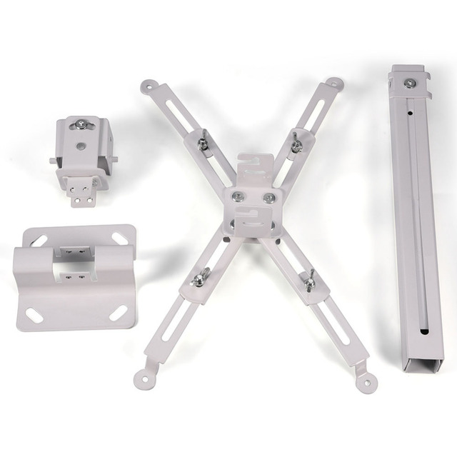 Universal LCD LED Projector Bracket Extendable Ceiling Wall Bracket Tilt Mount Set