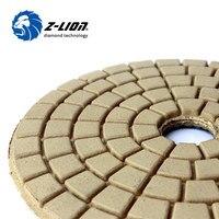 Z Lion White Buff 5 Inch 125mm Profession Polishing Buffing Pad Diamond Dry Polishing Buff Pad
