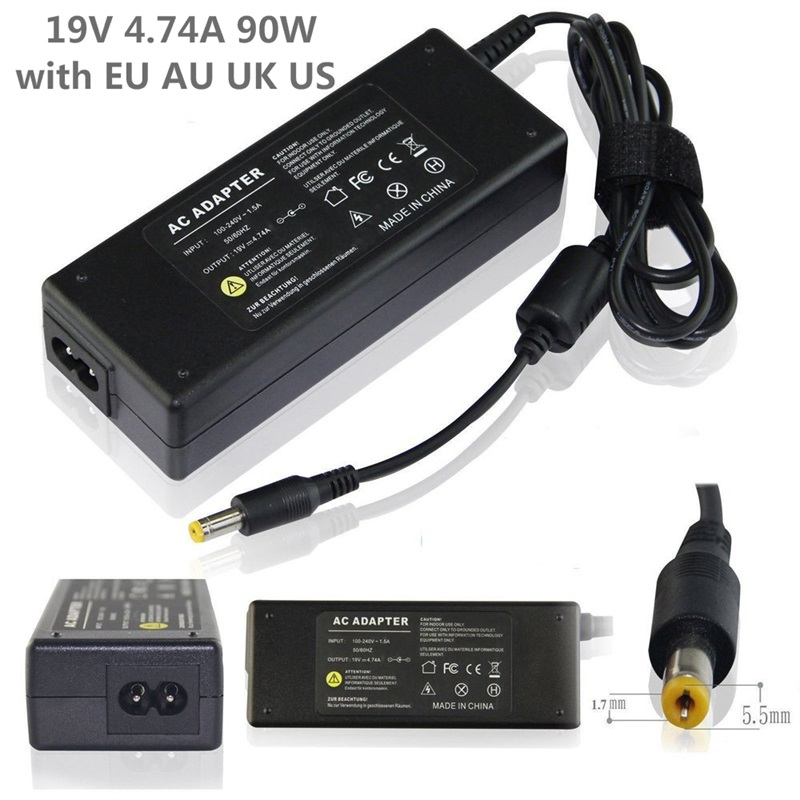 Ac Adapter Laptop Charger Notebook Pc Supply Power source for Acer Aspire High Quality 19V 4.74A 90W