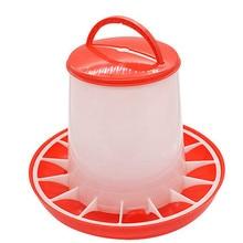 Автоматическая кормушка для цыплят, ведро 1,5 кг, пластиковая пищевая кормушка для цыплят, цыплят, курицы, птицы, крышка, ручки, принадлежности для кормления