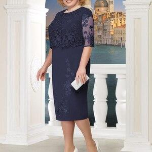 Image 2 - Rimiut 5XL 6XL Women Summer Autumn Big Size Dress Elegant Lace Dress Female Large Size Evening Party Dresses vestido Plus size
