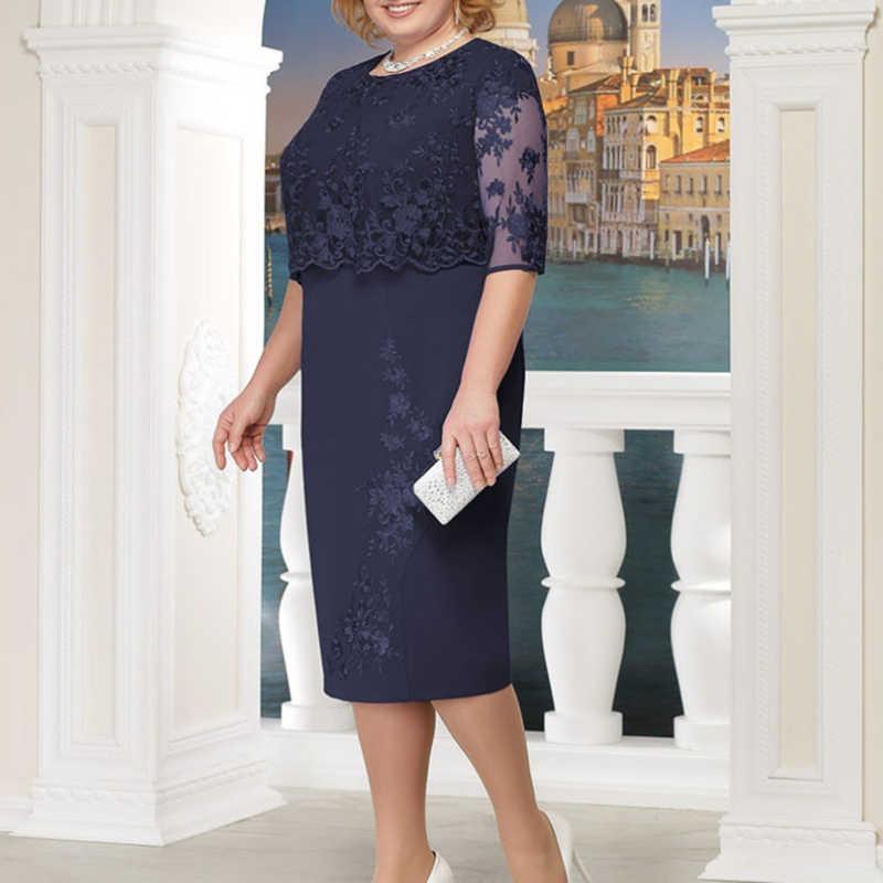 63308cd21f7 ... Rimiut 5XL 6XL Women Summer Autumn Big Size Dress Elegant Lace Dress  Female Large Size Evening ...