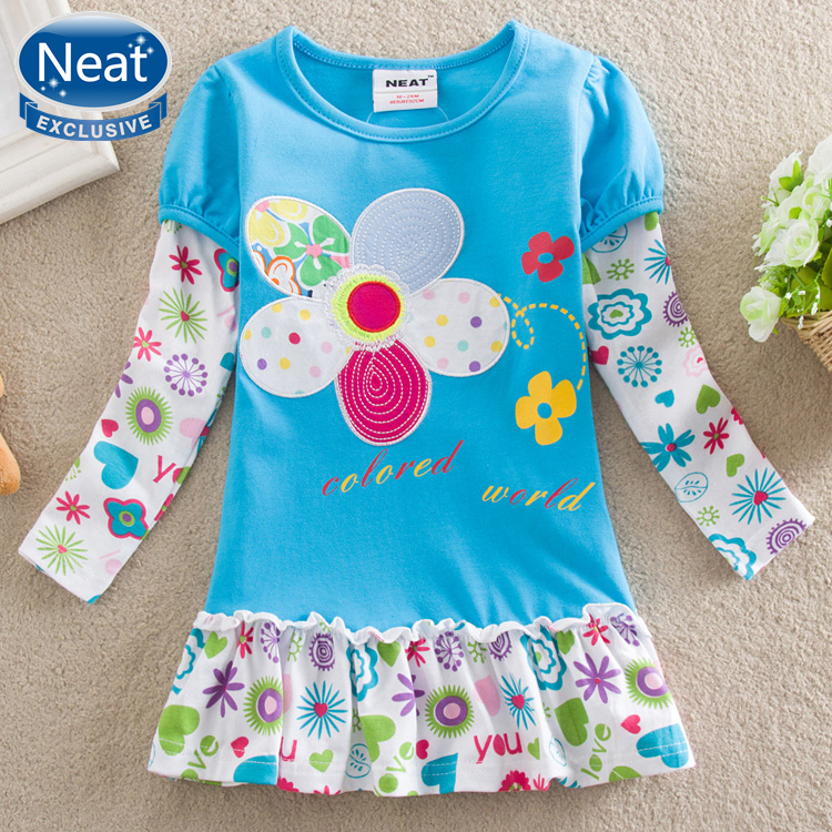 Neat New 2016 Children Clothing 100 Cotton Embroidered Designs Long