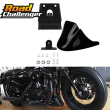 Black Motorcycle Front Chin Bottom Spoiler Mudguard Air Dam Fairing Cover Mudguard  Fair for For Harley Sportster XL883 XL1200 matte black motorcycle lower fairing front belly pan spoiler for harley davidson sportster 883 xl1200 2004 2014 models