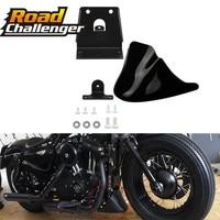 Black Motorcycle Front Chin Spoiler Air Dam Fairing Cover Mudguard Air Dam Fair Fair for For Harley Sportster XL883 XL1200