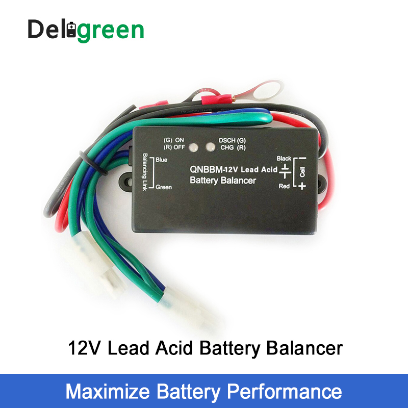 12V Lead Acid Battery Balance With Led Indicator 1S Battery Equalizer BMS Battery GELL Flooded AGM
