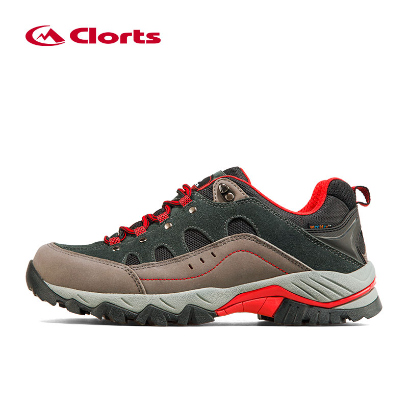 Clorts Trekking Shoes for Men Waterproof Hiking Shoes Suede Leather Men Mountain Shoes Outdoor Shoes HKL815B 2016 clorts men outdoor shoes nubuck hiking shoes breathable suede trekking shoes athletic sneakers for men hkl 826