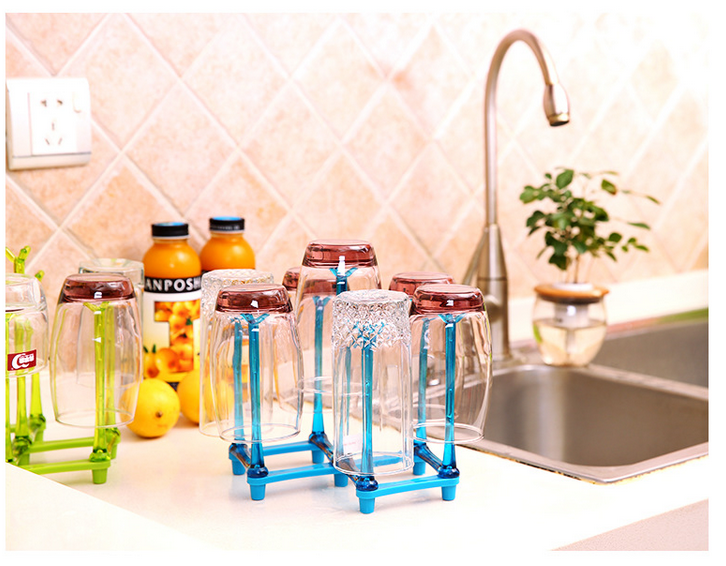 Plastic Glass Cup font b Rack b font Water Mug Draining Drying Organizer Drain Holder Stand
