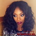 Synthetic Lace Front Wigs For Black Women Short Curly Lace Front Synthetic Wig with Baby Hair Glueless Heat Resistant Lace Wig