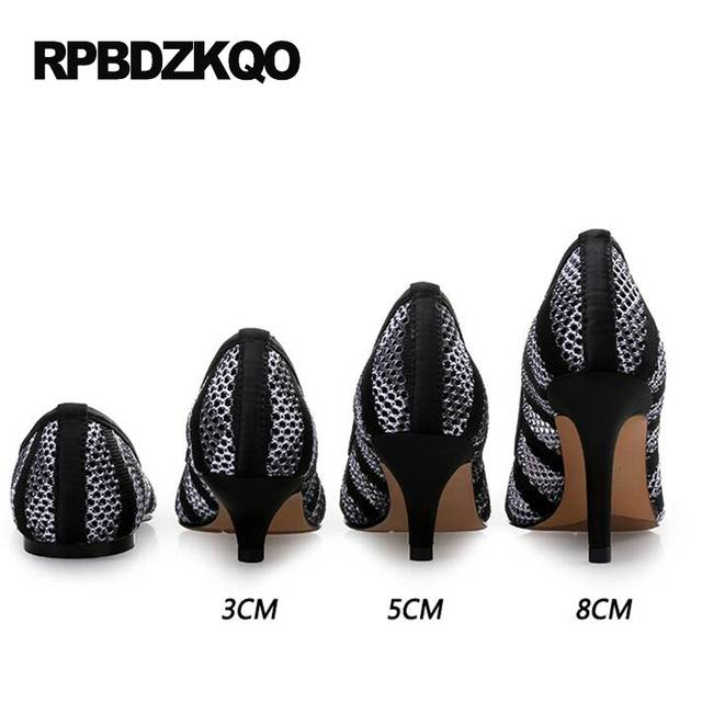 Online Shop Shoes 3 Inch Stiletto Pointed Toe High Heels Plus Size 2017  Spring Fashion Women Pumps 10 42 4 34 Special 33 Black Mesh  de793fcd527b