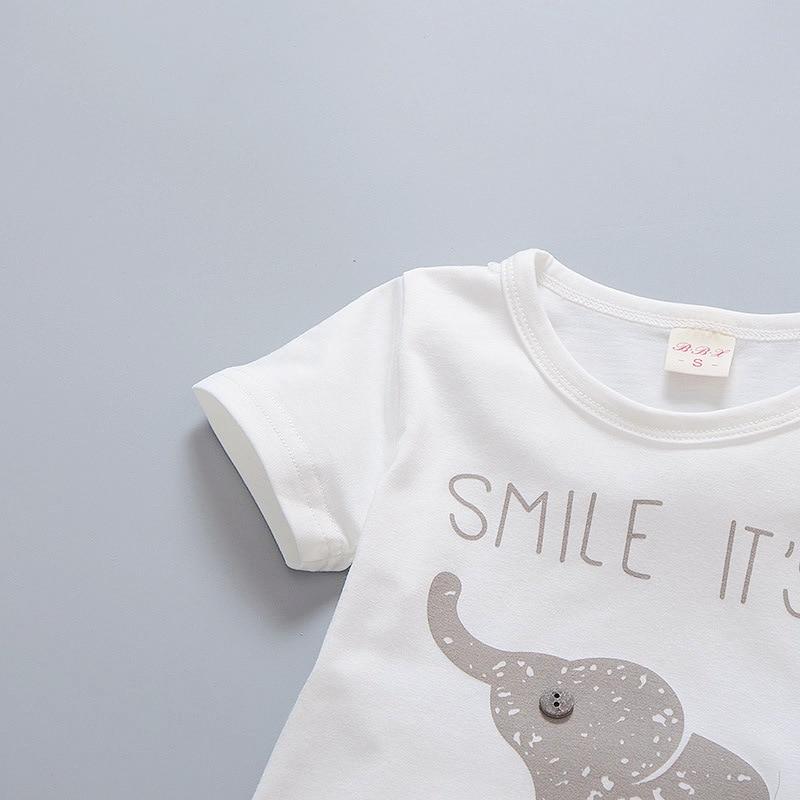 Pasgeboren baby boy kleding zomer kinderkleding korte mouwen t-shirts - Babykleding - Foto 3