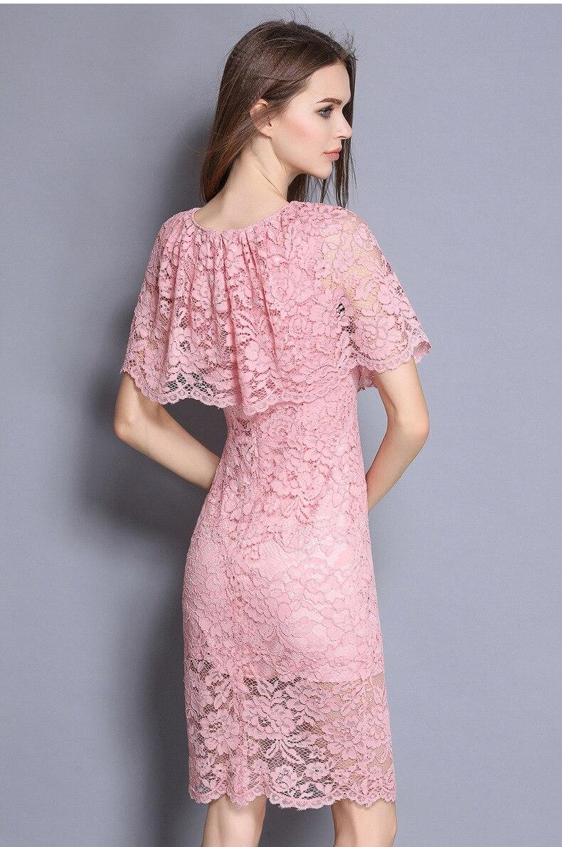 Verano perfecto Vestidos UK mujeres hombro del cabo Rosa cuerpo con ...