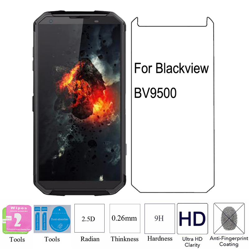 2PCS 2.5D 9H 0.26mm HD BV9500 Tempered Glass Protective Explosion proof Screen Protector Film For Blackview BV9500 BV 9500-in Phone Screen Protectors from Cellphones & Telecommunications