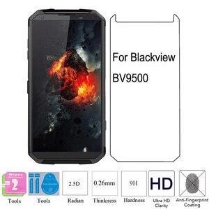 Image 1 - Película vidro temperado para blackview, 2 peças 2.5d 9h 0.26mm hd bv9500 protetor de tela à prova de explosão bv9500 bv 9500 plus
