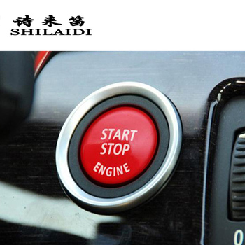 Car styling ENGINE START STOP switch button Covers Stickers Trim For BMW E90 E92 E93 E60 3/5 series E87 Z4 Auto F chassis cars image