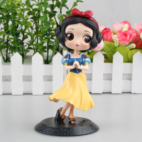 Love Thank You Snow White Priness big eye cake topper PVC Anime figure toy Model gift new Collectible 14CM Hobbies doll
