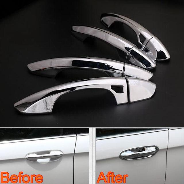 BBQ@FUKA 8x ABS Chrome Car Exterior Protect Door Handle Cover Handles Trim Sticker Fit & BBQ@FUKA 8x ABS Chrome Car Exterior Protect Door Handle Cover ...