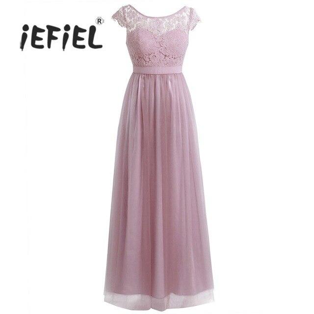 c8c3d7062ee Для женщин длинное платье императорская невеста вечерние Пром платье День  рождения цветочный кружево свадебные вечерние платья