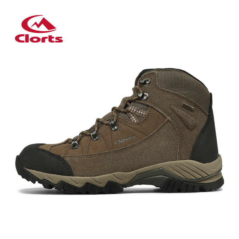Clorts Cow Suede Mid-Cut Climbing Boots Men's Outdoor Hiking Shoes Waterproof Breathable Athletic Shoes 3B010D peak sport men outdoor bas basketball shoes medium cut breathable comfortable revolve tech sneakers athletic training boots