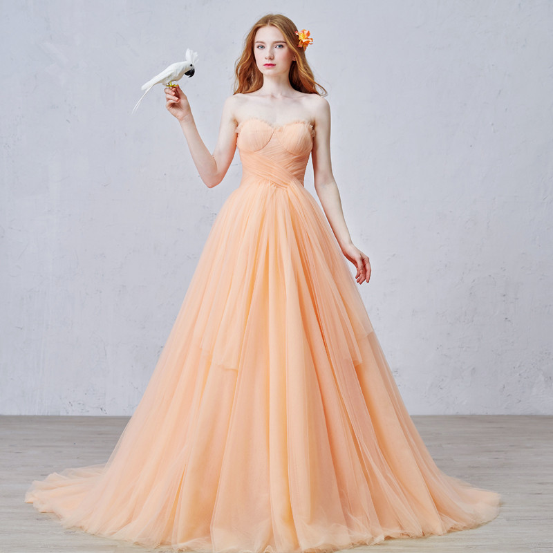 online buy wholesale wedding dress orange from china