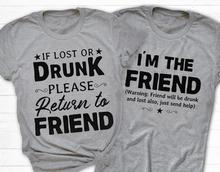 If i drunk return to my friends i'm the friends t shirt slogan women fashion grunge tumblr funny vintage graphic tees quote tops