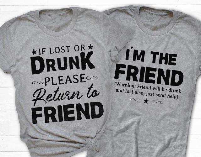 Drunk Friends Graphic T-Shirts