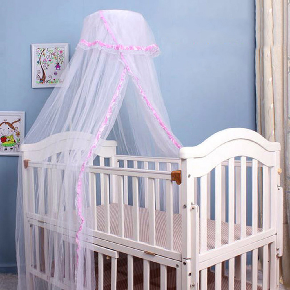Crib Netting Mother & Kids Baby Crib Netting Princess Decoration Dome Bed Canopy Childrens Bedding Round Lace Mosquito Net For Baby Photography Props Gift Warm And Windproof
