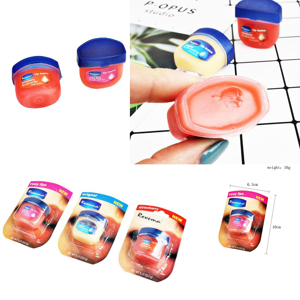 1pcs Pure Petroleum Jelly Protectant Moisturizer Anti Dry&Chapped Lip Balm Natural Moisturizing  Massager Plaster D209
