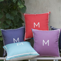 Matcha Store 2017 New Arrivals Simple Letter Solid Color Cushion Home Office Hotel Restaurant Pillow Cushion Sets
